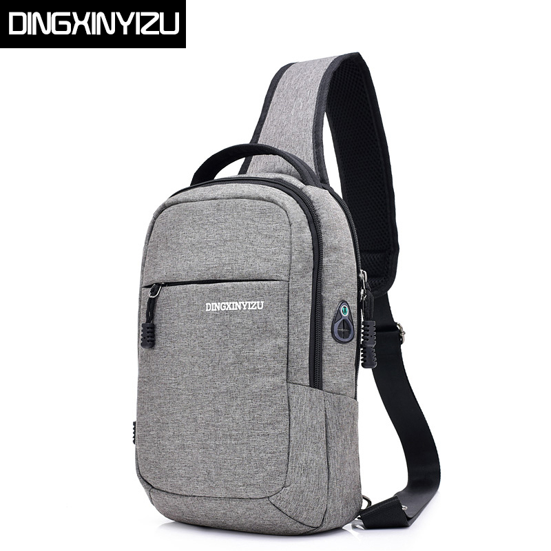 DINGXINYIZU Men Chest Bag Canvas Single Shoulder Strap Back Bag Fashion Men Crossbody Bags Male Travel Chest Pack for Man Bolsas photoelectric switch infrared beams of light reflection