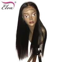 Silk Base Lace Front Human Hair Wigs With Baby Hair Brazilian Remy Hair Wig Straight Silk Top Wig Pre Plucked Hidden Knots Elva