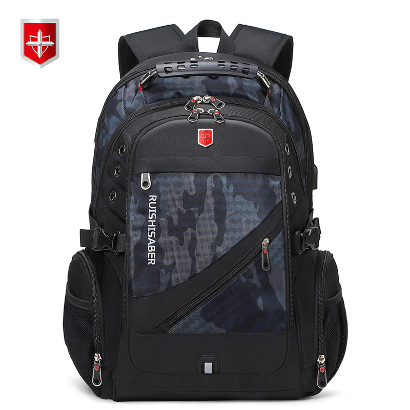 New Swiss Laptop Backpacks men External USB charge port for 17 Inch Waterproof Travel backpack Female