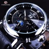 Forsining Luxury Casual Design Moonphase Calendar Display Mens Automatic Fashion Top Brand Luxury Mechanical Male Wrist