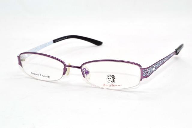 Moda roxo senhoras óculos de armação do templo de papel cut-Chinês Custom Made Prescrição míope-Photochromic óculos de-1 a-8