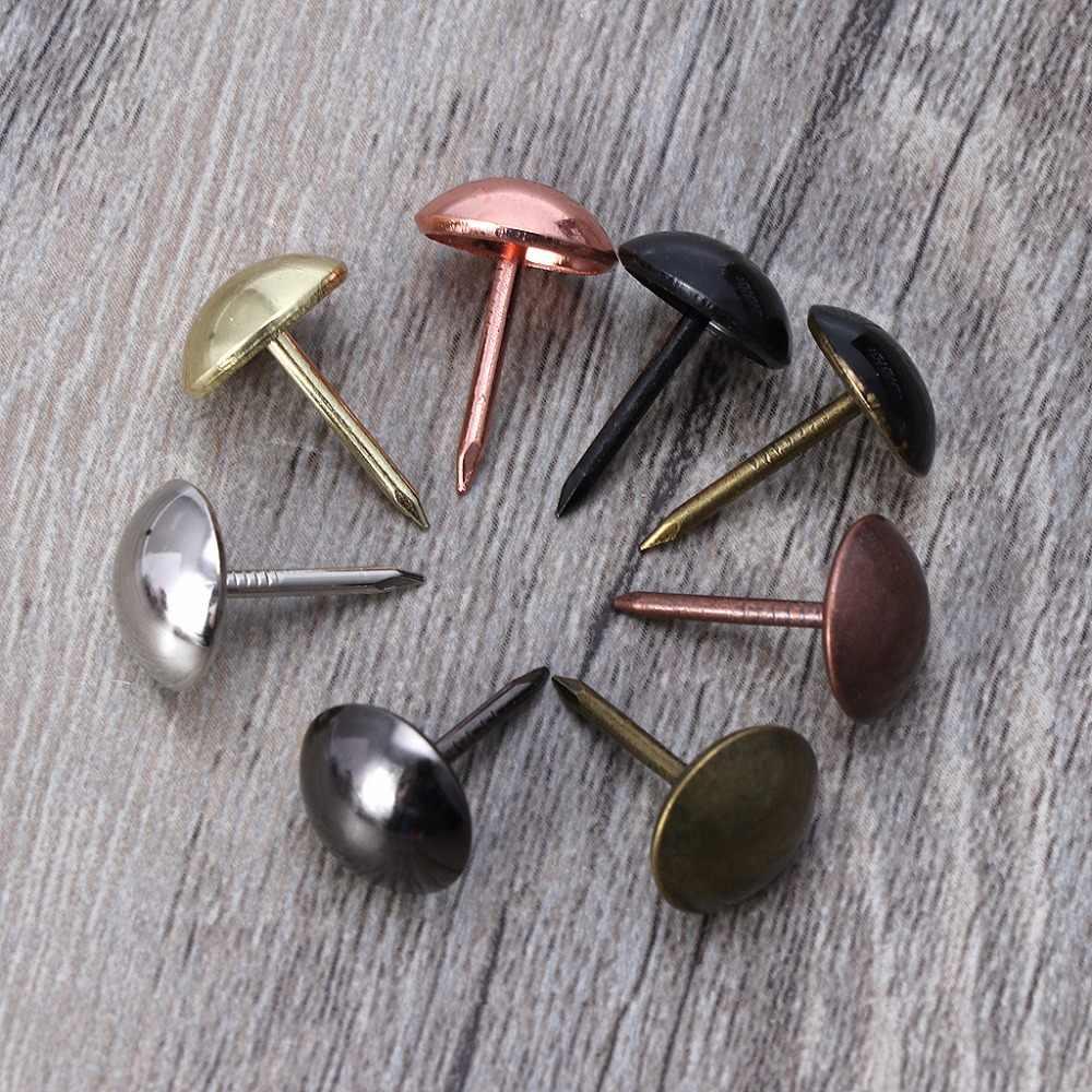 100 Pcs Antique Bronze Pregos Para Móveis Estofados Tachas Tachinhas de Hardware Decoração Nova