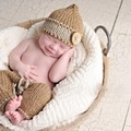 free shipping,lovely baby Beanie hat and pants baby set,newborn crochet photography props 100% cotton