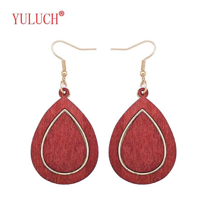 YULUCH Vintage Fashion Ethnic Jewelry Accessories Zinc Alloy Inlay Drops 3 Color Earrings for African Women's Gifts