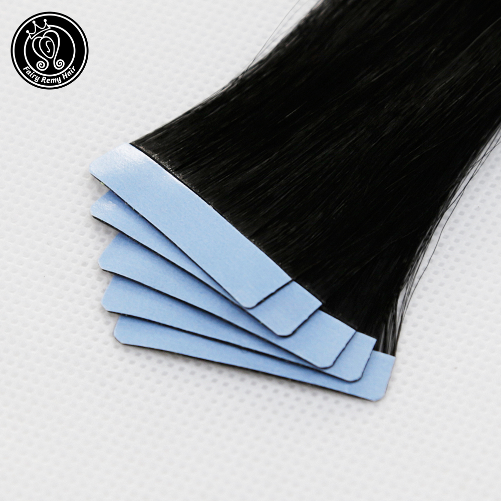Real Remy Tape In Human Hair Extensions Seamless Skin Weft Salon Samples 5pcs For Testing Hair Fairy Remy Hair 2.0g/pc 10g/pack