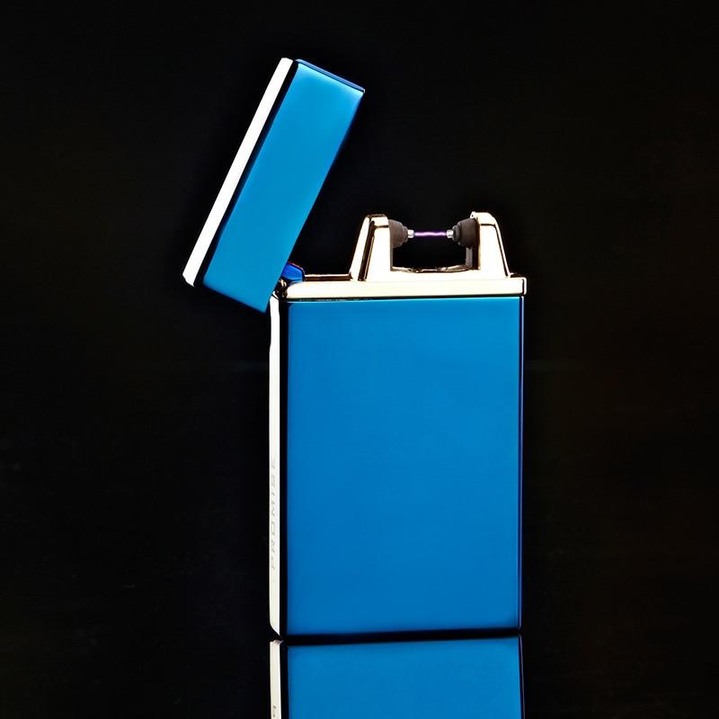 10pcs lot high quality USB windproof lighter encendedor isqueiro cigar cigarette tool arc lighter for men