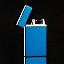 10ชิ้น/ล็อตที่มีคุณภาพสูงUSB windproofเบาencendedor isqueiroซิการ์บุหรี่เครื่องมือarcเบาสำหรับผู้ชายสำหรับคนที่มีกล่อง