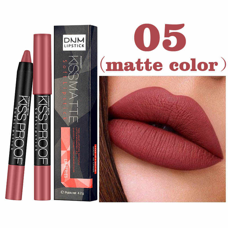 1 Pcs Lipstick Lip Liner Pencil Velvet Lip Stick Smooth High Pigmented Cosmetics ---MS