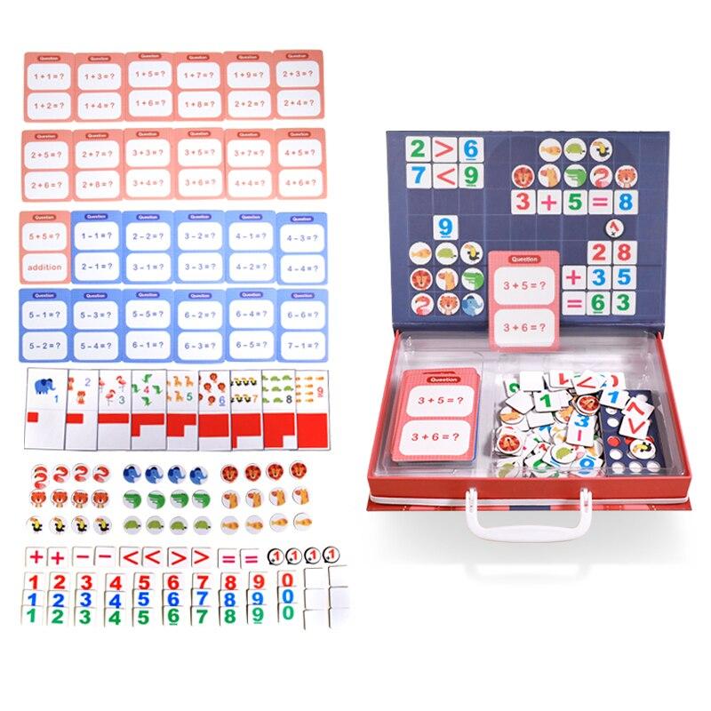 Juguete magnético Montessori de matemáticas aritmética adicional resta juego de rompecabezas de matemáticas juguetes educativos enseñanza conteo ayuda regalo - 4
