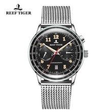 Arrecife de Tigre/RT superior de la marca de lujo de acero inoxidable relojes para hombre impermeable fecha Super luminoso Relojes automáticos RGA9122