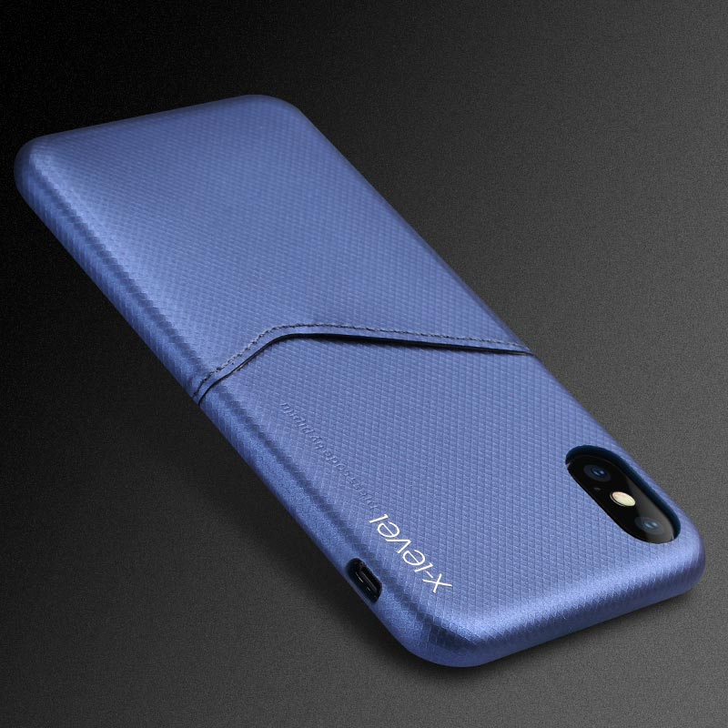 X Level Luxury Business Card Case for Apple iPhone X 8 7 6 6S Plus ...