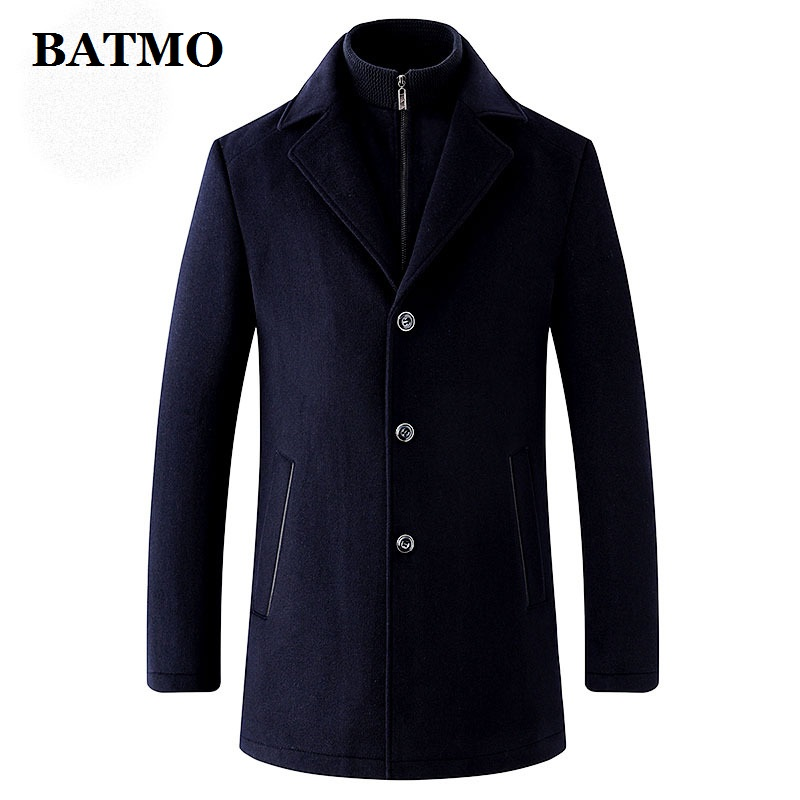 BATMO Trench-Coat Plus-Size Wool Thicked Men's Winter High-Quality Warm Liner Parkas