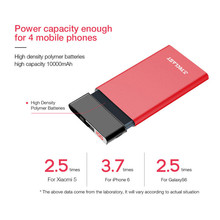 10000 mAh Power Bank USB Dual Input Output Smart Digital Display External Phone Battery for Iphone 8 X Fast Charging