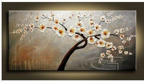 Di alta qualità enorme fiori lama pittura a olio per ...