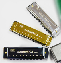купить Harmonica 10 Holes Diatonic key C Blues Jazz band mouth organ Instrumentos musicais harp по цене 140.03 рублей