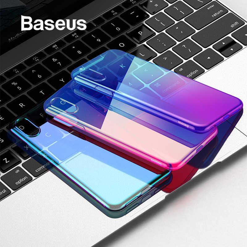 99e965e306 Baseus Luxury Plating TPU Case For iPhone XR Thin Gradient Colorful Soft  Silicone Case For iPhone