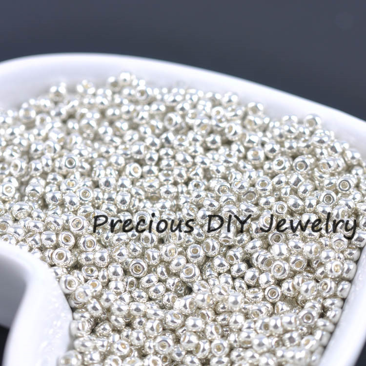 2mm 1500pcs Silver Lined Crystal Seed Glass Spacer Beads For Jewelry Handmade Diy Free Shipping Jewelry & Accessories