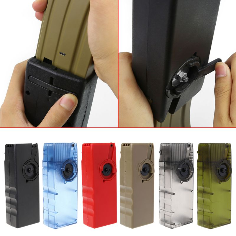 Tactical Handheld Device BB Speed Loader Ball Container Magazine Airsoft Paintball Outdoor Hunting Shooting Tackle