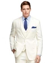 Custom Made Mens Suits Jacket Pants High Quality Formal Dress Men Suit Set Men Wedding Suits Groom Tuxedos (Jacket+Pants+Vest)