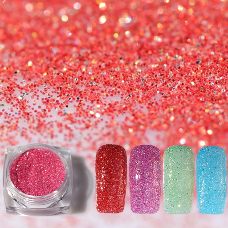 Acrylic Nail Powder Holographic: Holographic Acrylic Nail Glitter Powder For Nail Art Tips