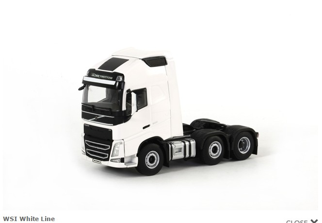 Collectible Alloy Toy Model WSI 1:50 Scale VOLVO FH4 GL XL Truck Tractor Trailer Vehicles Diecast Toy Model For Decoration,Gift