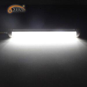 Image 5 - OKEEN barre lumineuse intérieure universel, 2 pièces, avec interrupteur marche/arrêt, 12V LED, 108LED, pour camping car, camion, camion, camping car, bateau, caravane