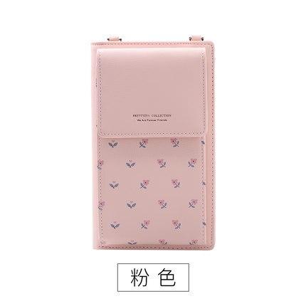 Новинка, Женский кошелек на каждый день, брендовый кошелек для мобильного телефона, большие держатели для карт, кошелек, сумочка, клатч, сумка на ремне через плечо - Цвет: pink2