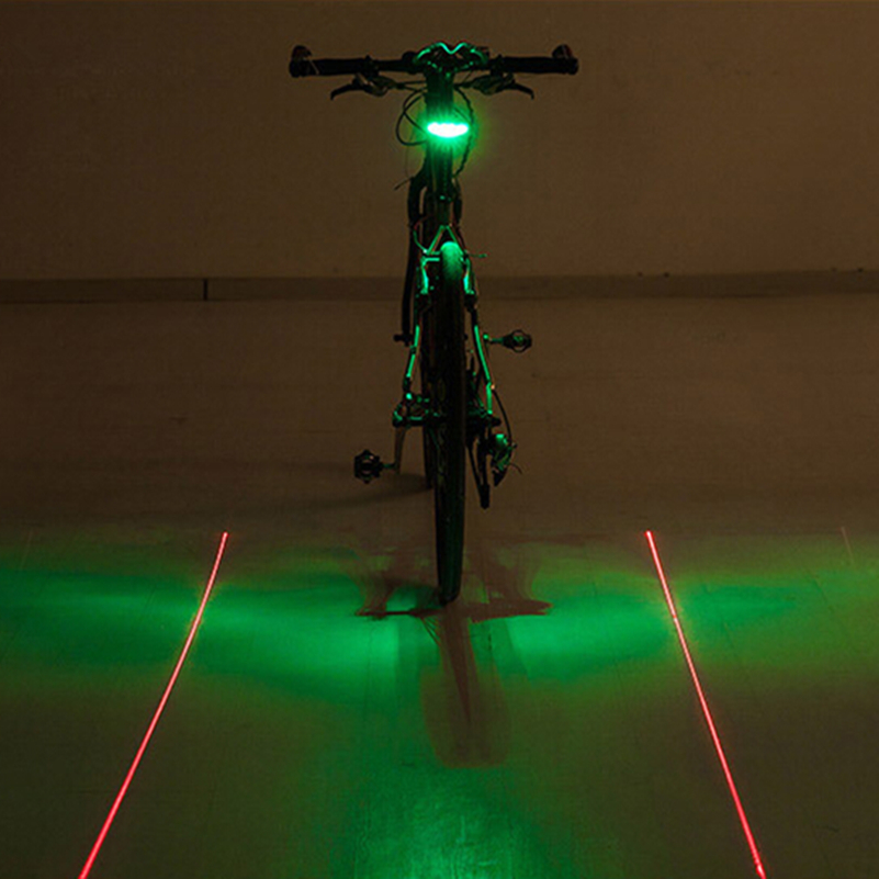 WEST BIKING Bicycle Laser Taillights Parallel Lines Mountain Bike Night Riding Safety Warning Light Equipment Accessories