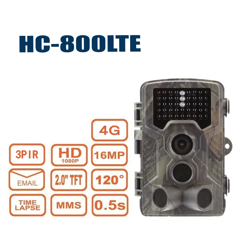 4G FTP SMTP MMS Email 16MP 1080P Trail Hunting Camera Infrared Night Vision HC800LTE SMS Wildlife Wild Cameras Surveillance Cam4G FTP SMTP MMS Email 16MP 1080P Trail Hunting Camera Infrared Night Vision HC800LTE SMS Wildlife Wild Cameras Surveillance Cam