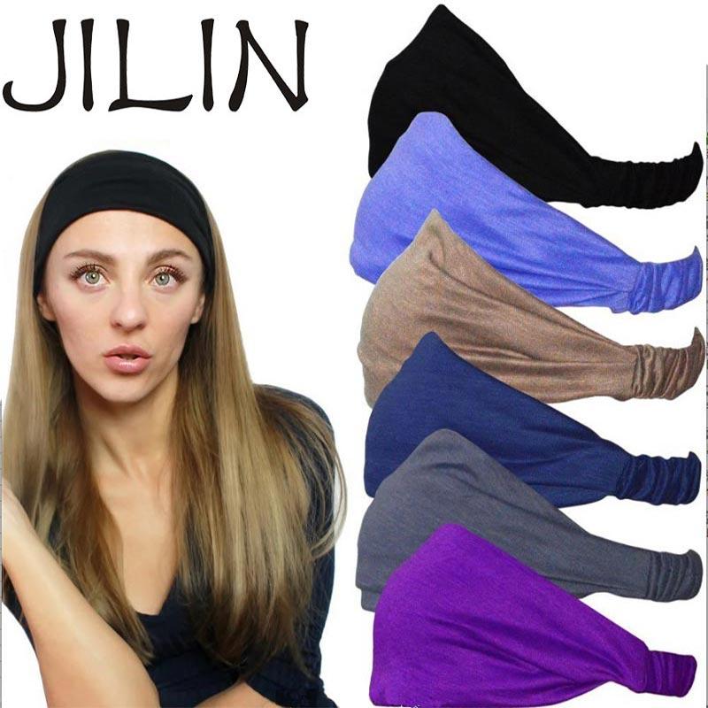 Women Sports Yoga Hair Band Headband Trendy Solid Color Ladies Elastic Yoga Sport Running Headband Dropshipping New