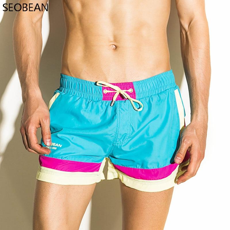 SEOBEAN Brand Running Shorts Men Gym Athletic Leggings Basketball Gym Sports Fitness Short Pants Soccer Volleyball Crossfit 2017 ...