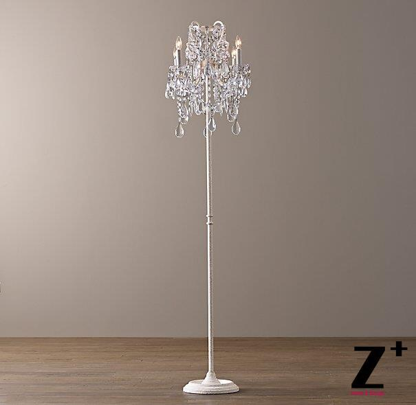 Replica Item Manor Court Lustre Crystal 4 Arm Floor Lamp Vintage
