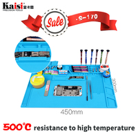 S 170 48x31cm Heat Insulation Silicone Pad Electrical BGA Soldering Repair Station Maintenance Platform With Screw