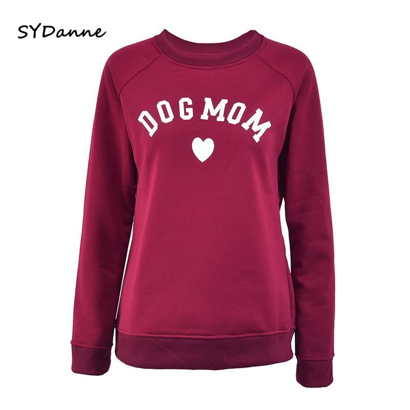 Canine Mother Ladies's Plus Velvet Modern Lengthy Sleeve Informal Sweatshirt Printing Coronary heart-shaped Print Kawaii Sweatshirt Clothes Hoodies & Sweatshirts, Low cost Hoodies & Sweatshirts, Canine Mother Ladies's Plus...
