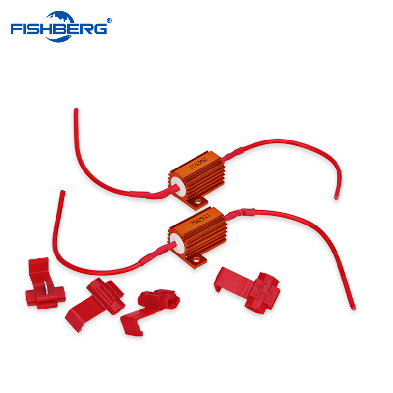 12V 25W 25 Ohm Load Resistor LED Car Light Resistance Canbus Error Free Cancel Decoder Turn Signal Blinker Weerstand