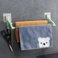 2 layer rvs badkamer handdoekenrek met haak servies doekjes houders voor keuken wandplank opslag organisatie towel rack bathroom towel rackstainless steel towel rack -
