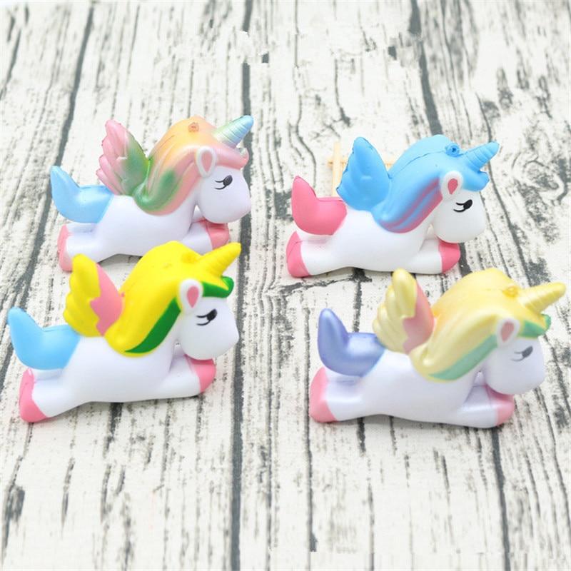 11CM Pink Squishy Novelty Toy Anti-Stress Pu Jumbo Unicorn Squishy Cute Kawaii Super Slow Rising Scented Fun Buffer Stress gift