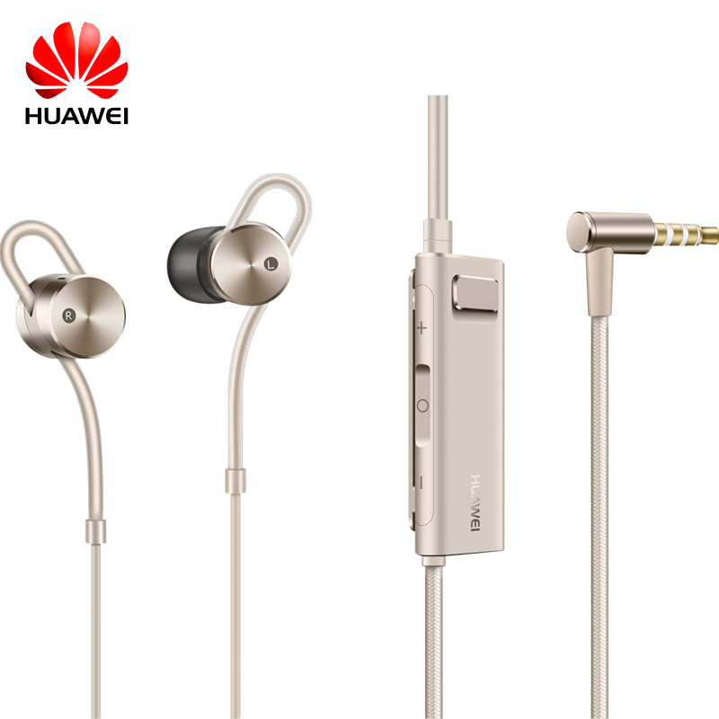Original Huawei Honor AM185 AM180 Earphone Active Noise Cancelling 2 II with Mic and Remote In-Ear earphone for Smartphones original huawei am180 in ear 3 5mm active noise cancellation earphones