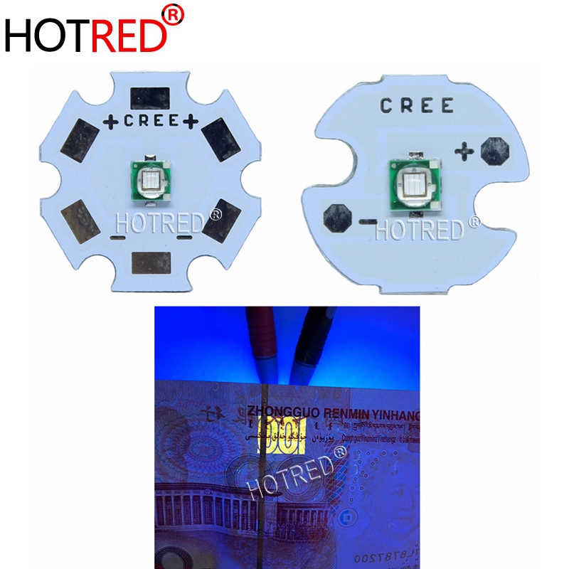 1pcs <font><b>3W</b></font> 3535 High Power <font><b>LED</b></font> <font><b>UV</b></font> Light Chip 365nm Emitter Diode Ultra Violet DIY With 8/12/14/16/20mm pcb image