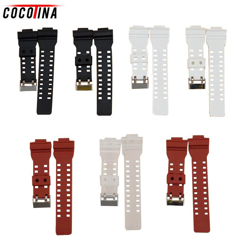 лучшая цена Original Silicone Sports Replacement Watch Strap Band for Casio G-SHOCK Waterproof Rubber Watchband Metal Watch Bracelets