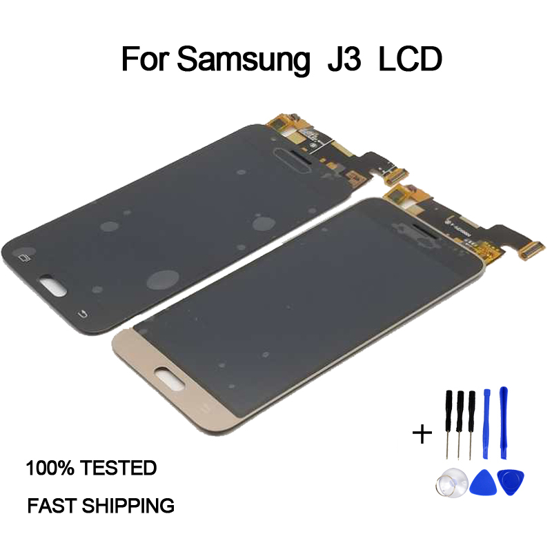 For Samsung Galaxy J3 2016 J320 J320F J320M J320FN LCD Display Touch Screen Digitizer Assembly Replacement For Samsung J3 LCD