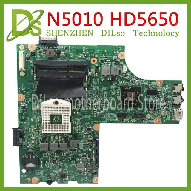 KEFU 09909-1 Dành Cho Dành Cho Laptop DELL Inspiron N5010 CN-0VX53T CN-052F31 09909-1 48.4HH01.011 HM57 HD5650 GPU ban đầu Thử Nghiệm Bo mạch chủ