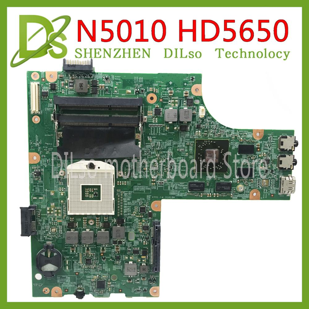 KEFU 09909-1 Motherboard For DELL Inspiron N5010 Motherboard CN-0VX53T CN-052F31 09909-1 48.4HH01.011 HM57 GPU Original Test