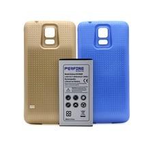 S5 rozszerzona bateria 5600mAh 3.85V Extra do Samsung Galaxy S5 i9600 G900 bateria zapasowa + 2 pokrowce niebiesko złote