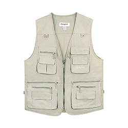 Details about  /Mens Sleeveless Multi Pockets Vest Jacket Coat Waistcoat Outdoor Travel Fishing
