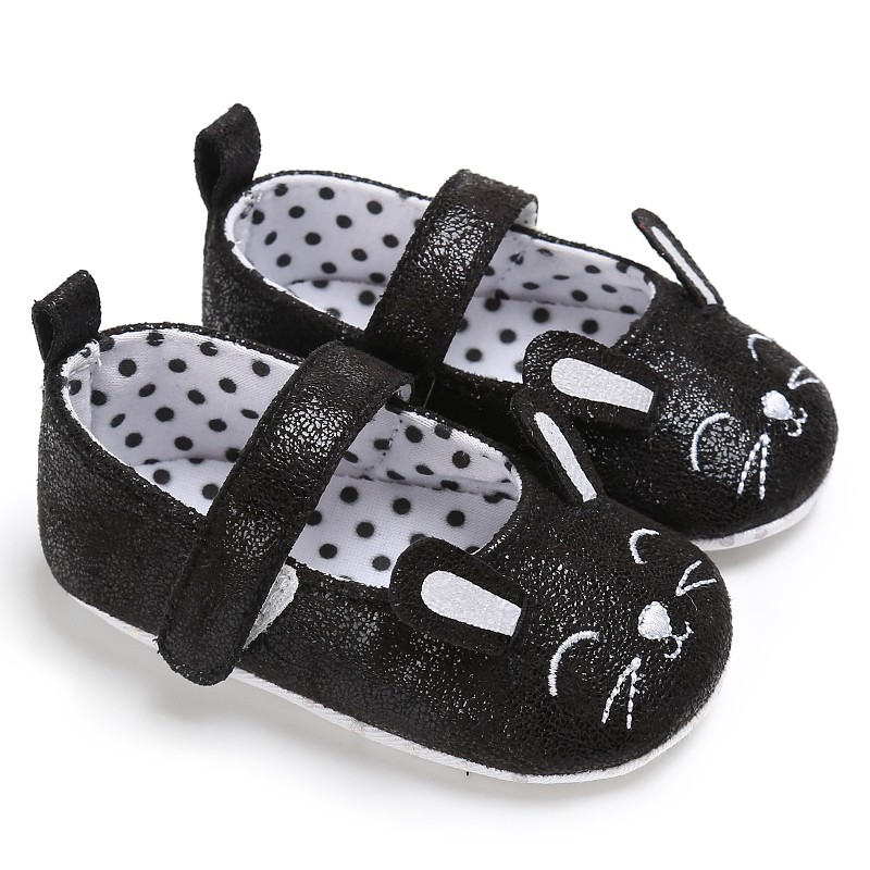 Cute Smile Lucky Meow Baby Princess Shoes Baby Girls Newborn Prewalker Girl Toddler Shoes For 0-18M Kids  New Arrival