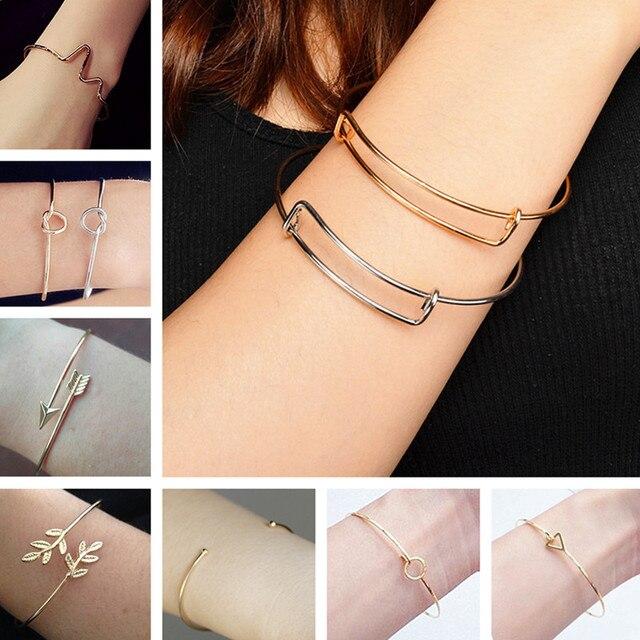 Bangles & Bracelets For Women Fashion Tiny Jewelry Triangle Leaf Arrow Bijoux Ge
