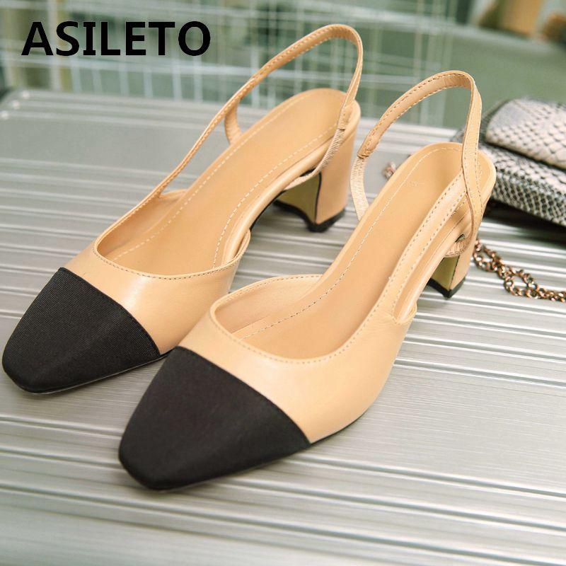 ASILETO piel de oveja genuina zapatos de diseñador zapatos de tacón alto zapatos de fiesta boda puntiagudos retazos chaussures-in Zapatos de tacón de mujer from zapatos on AliExpress - 11.11_Double 11_Singles' Day 1