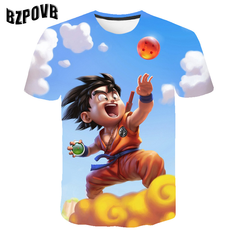 Men Dragon Ball T Shirt 3d T-shirt Anime Men T Shirt Funny T Shirts Hip Hop 2019  Mens Clothes Anime Clothing XXS-6XL