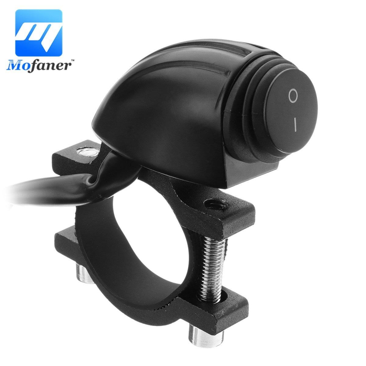 """1PC Waterproof 12V 22mm 7/8\"""" Motorcycle Switches Handlebar Mount Control <font><b>Headlight</b></font> ON OFF Switch For Motorbike ATV electric bike"""